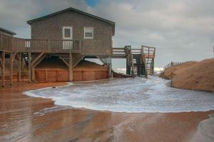 The state Department of Transportation closed N.C. Highway 12 on Pea Island because of flooding on Nov. 12, 2010.
