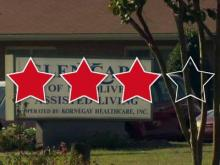 Glen Care of Mount Olive has a three-star rating
