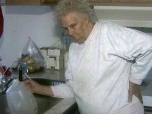 Rose Cole, 82, was able to get a trickle from the faucet Sunday for the first time in four days.