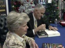 Gen. Hugh Shelton signs books