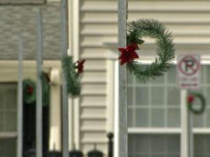 Residents of this Cary neighborhood have plenty of places to hang their holiday wreaths.