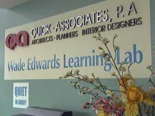 Wade Edwards Learning Lab sign