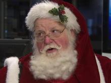 Santa visits WRAL studios