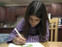 Cary girl using art to help local families