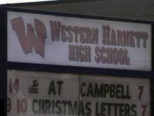 Western Harnett High School sign
