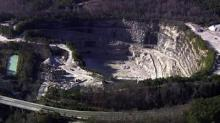 Aerial view of Raleigh quarry