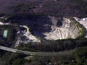 Hanson Aggregates operates a quarry off Duraleigh Road in northwest Raleigh.