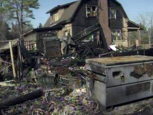 A Dec. 16, 2010, fire seriously damaged a home on Clinton Road in Stedman, but a Cumberland County deputy was able to rescue sveeral pets and some Christmas presents from inside the burning home.
