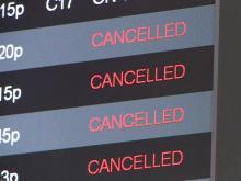 Air travelers snowed in at RDU
