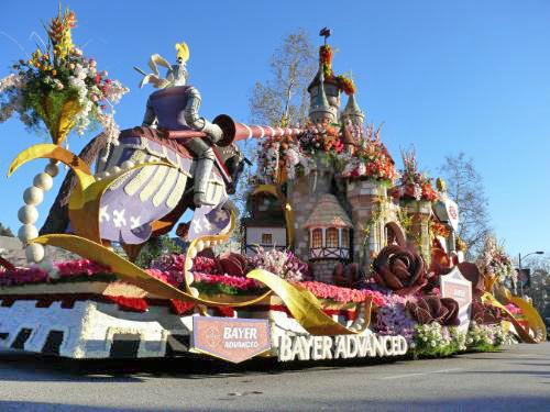 Bayer Advanced(TM) Recreates The Legend of Camelot With Its 2011 Rose Parade(R) Float on January 1. (PRNewsFoto/Bayer Advanced)