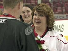 "Hurricanes fans say ""I do"" at RBC Center"