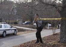 Wake County sheriff's deputies secure the scene of a shooting in Apex.