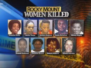 As of Jan. 14, 2010, nine women with similar backgrounds have been found dead, many in the same remote area of Edgecombe County.