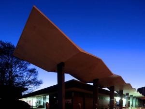 Designed by former architecture professor Milton Small, the N.C. State campus bookstore opened in 1960. (Photo courtesy of John Morris)