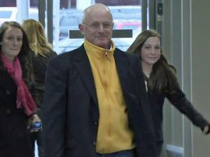 Research scientist Hank Healey arrives at RDU International Monday.