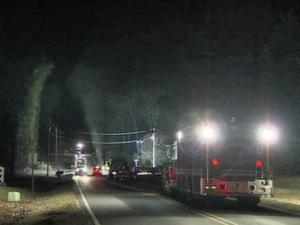 A gas leak caused road closures in the Waters Edge Subdivision in Wake Forest on Feb. 3, 2011.