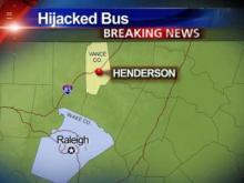 Greyhound bus headed to Raleigh hijacked