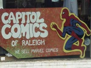 Capitol Comics has been a fixture at 3027 Hillsborough St. for 24 years, but the economy and changing tastes have hurt the long-running business, according to manager Russ Garwood.