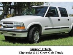 The Johnston County Sheriff's Office is  searching for a white Chevrolet S-10 crew-cab towing a small trailer, with a John Deere LA115 riding lawn mower and Troy-Built push mower. Investigators believe the mowers were stolen from a home in the Winston Pointe subdivision in Clayton that was set on fire early Friday, Feb. 4, 2011.