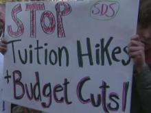 Students protest tuition hikes planned for UNC System