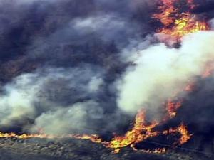 Sky 5 flies over 600-acre fire in Cumberland County