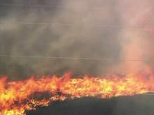 Cumberland fire stretches 800 acres, spreads quickly