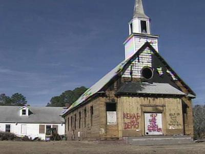 Trinity Baptist Church is a home to vagrants, city leaders say.