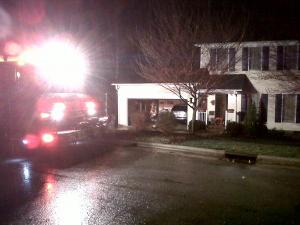 A lightning strike ignited a house fire on Beasley Court in Cary Monday. The family made it out safely, a neighbor said.