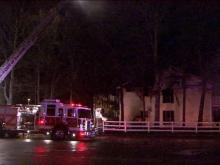 An early morning fire at Mission Capital Crossing apartments on Dansey Drive in Raleigh on March 15, 2011.
