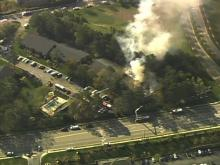 Raleigh firefighters battled a major blaze at Martinique Condos, at 4505 Edwards Mill Road on Friday, April 1, 2011.