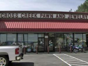 Fayetteville police say at least two people staged an elaborate burglary at the Cross Creek Pawn and Jewelry shop on Cliffdale Road on March 30, 2011, cutting through the roof and walls of the store and into a concrete vault to steal more than $200,000 in jewelry, cash and electronics.