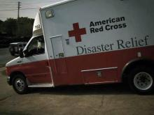 Red Cross disaster relief truck