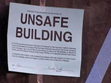 Sonja Orr's Raleigh townhouse was declared unsafe after a tree pierced her roof in Saturday's storms.