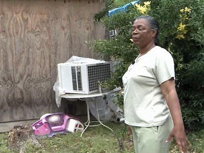 Katherine Johnson was able to return to her Roanoke Rapids home 10 days after a tornado ripped through her neighborhood.