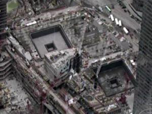 Thousands of people flocked to the footprints of the World Trade Center towers, which are being transformed into a 9/11 memorial, on May 2, 2011, following the death of terror mastermind Osama bin Laden.