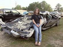 Lee County girl escapes tornado-squashed truck to save father