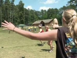 Dozens of children who have survived burn injuries gathered at a camp in Wake Forest this weekend to share stories, make friends and have fun.
