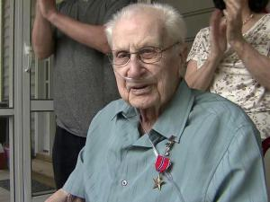 "The United States Army on Monday awarded a bronze star to Joseph Shaughnessy, 97, in recognition of his ""meritorious service"" in the Philippines during World War II. He also received new medals for awards he received six decades ago but has lost over the years."