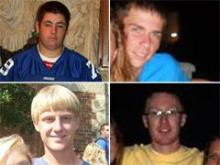 Clockwise from top right: Austin Flowers, Brenden Pearce, Matthew Speight and Lane Meyer