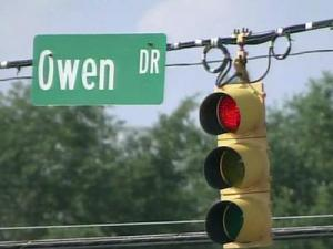 The intersection of Owen Drive and Boone Trail in Fayetteville.