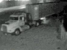 Theif crashes truck through fence to steal trailer