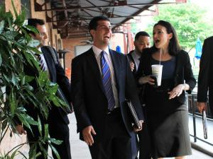 Sheryl Sandberg, chief operating officer of Facebook, tours the American Tobacco Historic District in Durham prior to a meeting of President Barack Obama's Council on Jobs and Competitiveness on Monday, June 13, 2011.