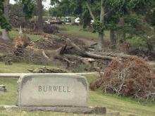 Raleigh historic cemeteries still await tornado cleanup