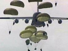 Fort Bragg training jump, paratroopers