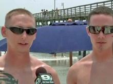 Airmen try to save drowning Raleigh man