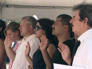 Twenty-six people took the oath of citizenship during a July 4, 2011, ceremony at the State Capitol.