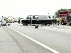 A church van carrying a Durham family flipped on Interstate 95 near Savannah, Ga., on July 10, 2011, injuring nine people.