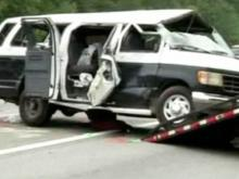 Durham church van flips on I-95 in Georgia