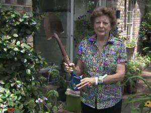 Martha Swaringen, 80, of Aberdeen, used a shovel to incapacitate a fox that lunged on her daughter in their backyard.