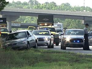 Chase suspect caught off busy I-40 near RTP